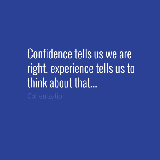 Experience / Confidence
